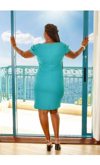 Shelby & Palmer RANELE- Sheath Cap Sleeve Dress