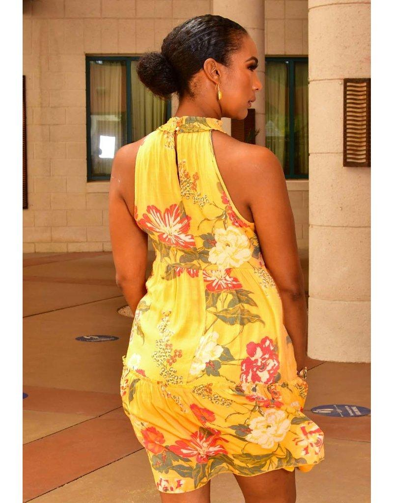 MLLE Gabrielle GEORGE- Floral Halter Dress