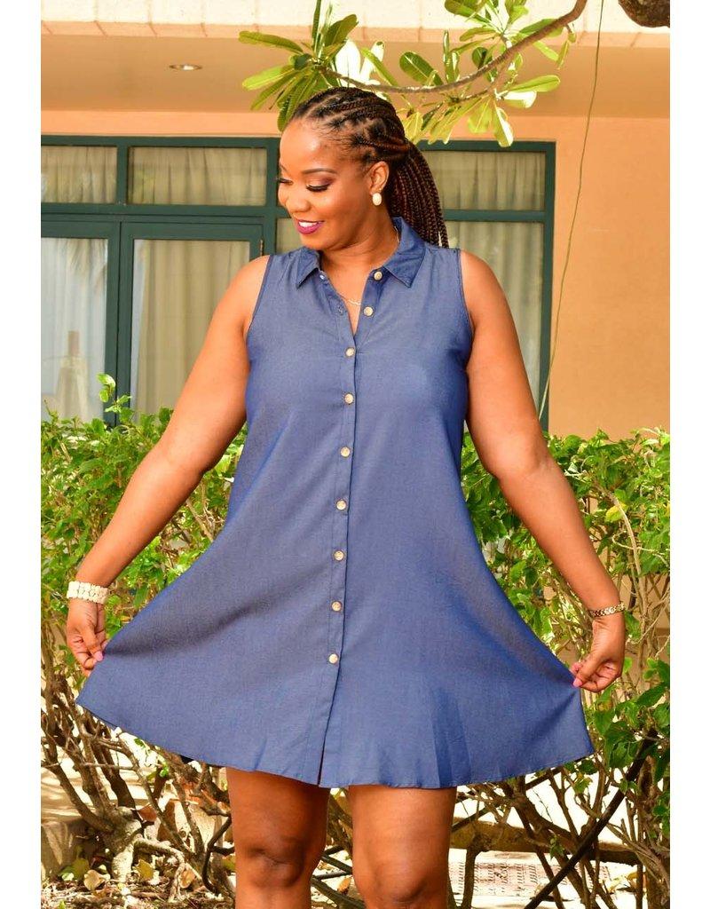 MLLE Gabrielle WINA- Jeans Shirt Dress