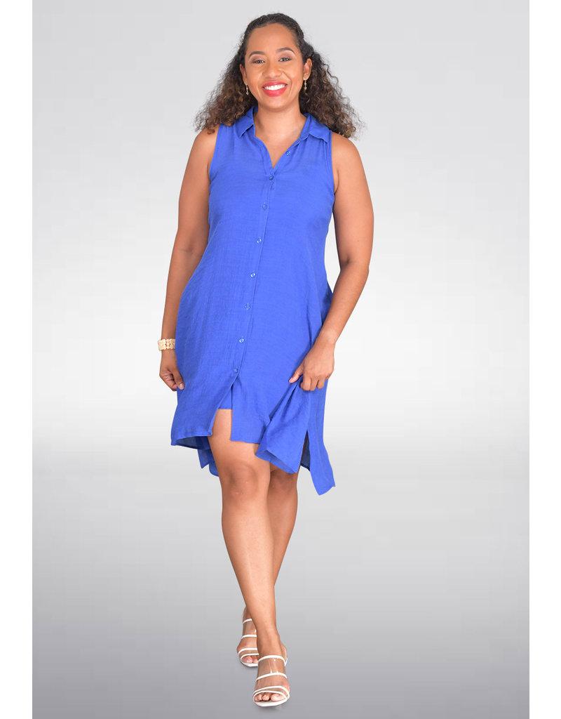 MLLE Gabrielle GENEVIEVE- Sleeveless Shirt Dress
