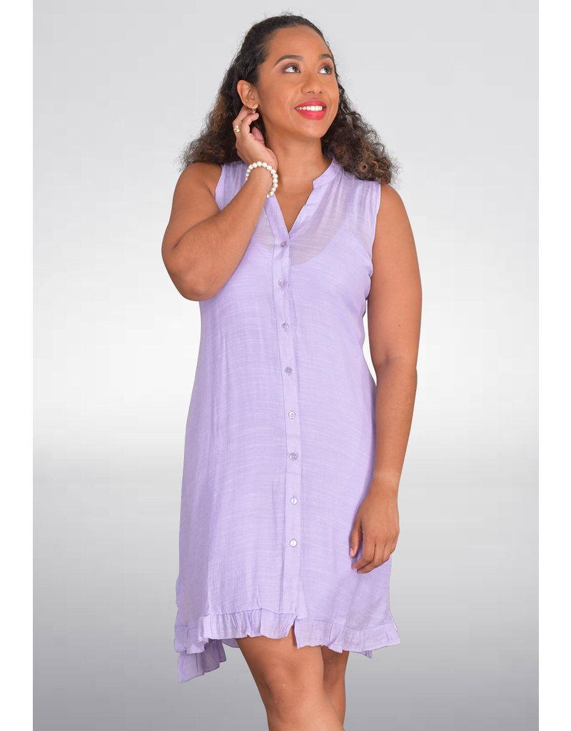 MLLE Gabrielle GIAMA-Button Front Shift Dress