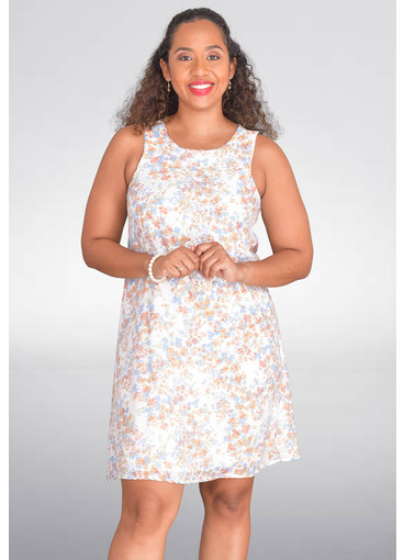 ROBERT LOUIS NIKIO- Floral Sleeveless Dress