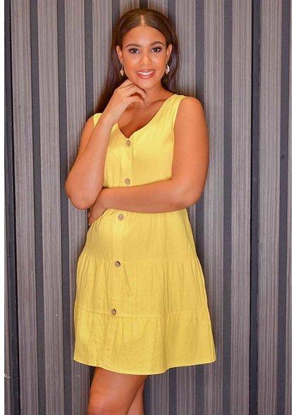 GETS OLENA- Armhole Button Down Dress