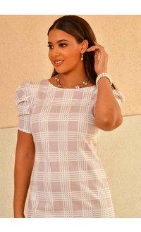 Shelby & Palmer RESHENA- Puff Sleeve Sheath Dress