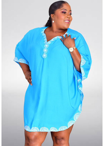GETS DEDE- Embroidered Cover Up