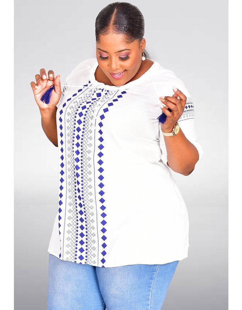 ORRA- Printed Shirt Dress