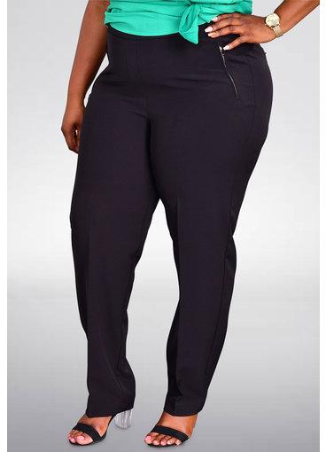ZAC & RACHEL ZONA- Plus Size Pull Up Pants with Zip Pockets