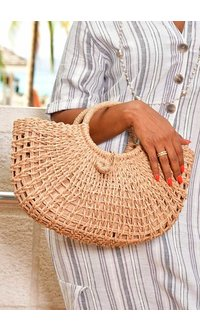 GETS Woven Straw Hand Made Bag