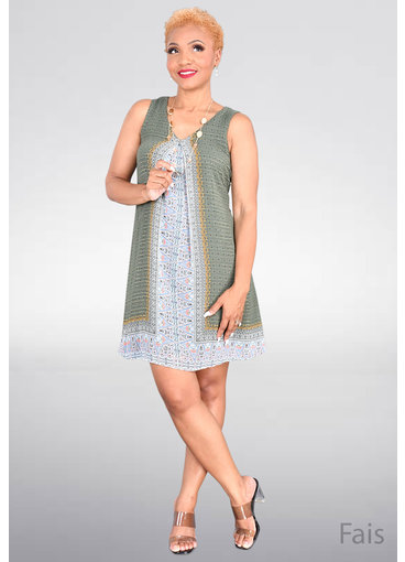 FAIS- Printed Sleeveless Dress