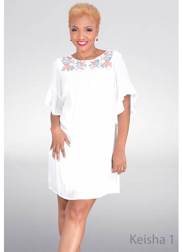 KEISHA- Dress with Embroidery Detailing