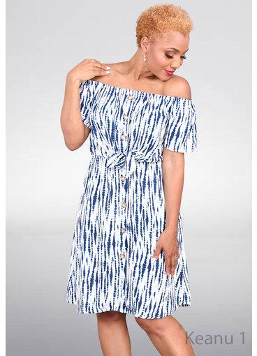 KEANU- Off Shoulder Tie Dye Dress