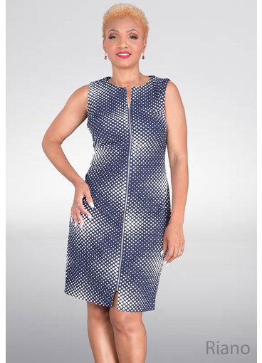 RIANO- Printed Zip Dress