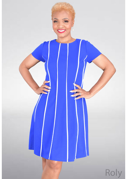 ROLY- Short Sleeve Contrast Dress