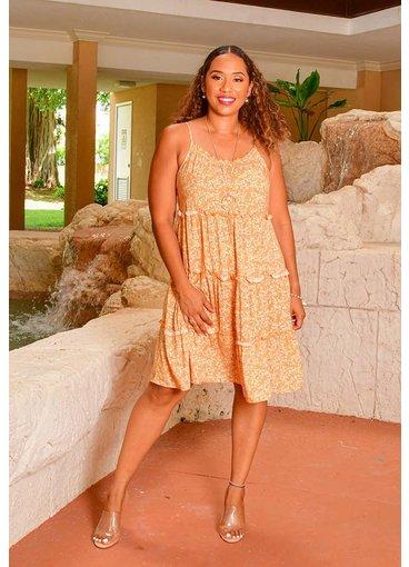 MLLE Gabrielle KEREN- Strappy Floral Dress