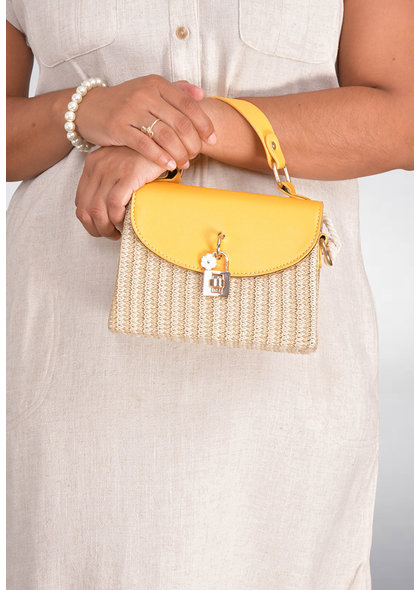 GETS PU Leather Squares Cross Body Bag