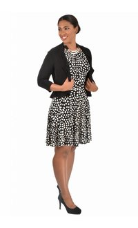 Printed ITY  Dress with Frill Jacket