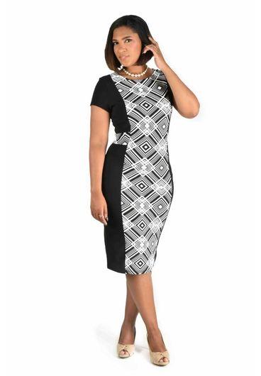 Printed Cap Sleeve Dress
