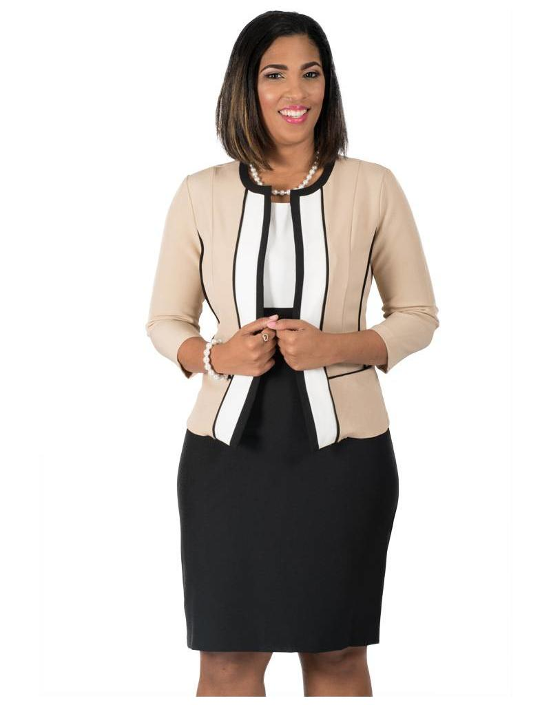 Voir Long Sleeve Jacket and Dress Combo