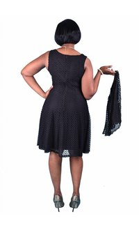 Signature Eyelet Fit and Flare Dress with Matching Caplet Jacket