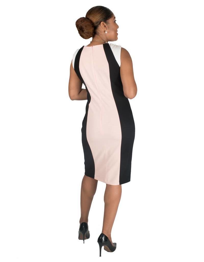 Shelby & Palmer Armhole Color Block Sheath Dress