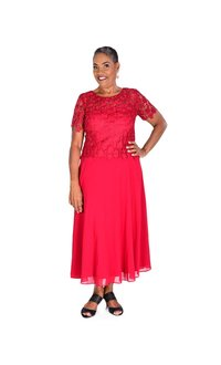 Applique Gown with Chiffon Bottom