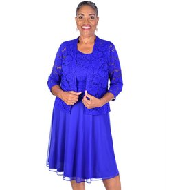 Applique Long Sleeve Jacket and Dress