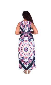 IZZY-Printed Keyhole Maxi Dress