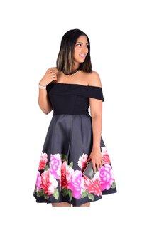 STELLA- Printed Off The Shoulder Dress
