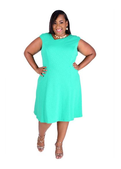 XAHLIA- Plus Size Asymmetrical Design Dress