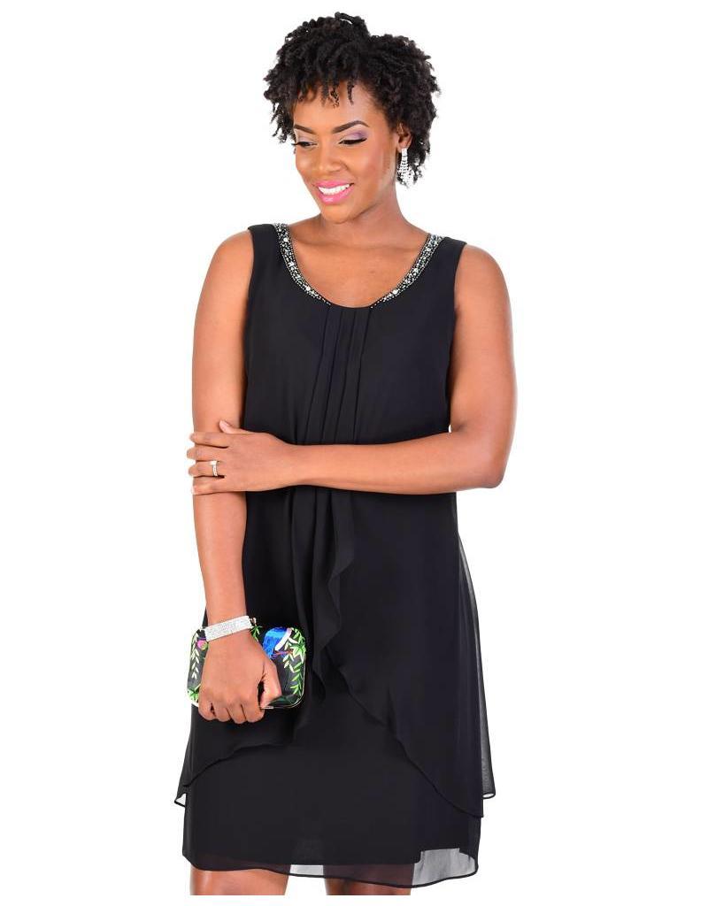 FLANNA-Tiered Sleeveless Dress