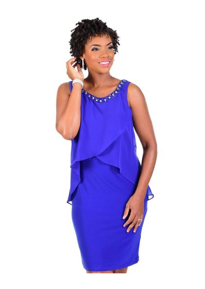 IGORA-Chiffon Sleeveless Dress