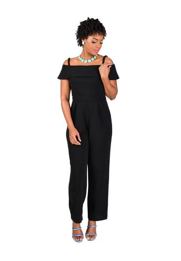 Scarlett REBA-Off the Shoulder Jumpsuit