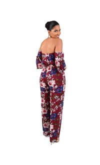 Annabelle FANA-Off the Shoulder Three Quarter Sleeve Jumpsuit