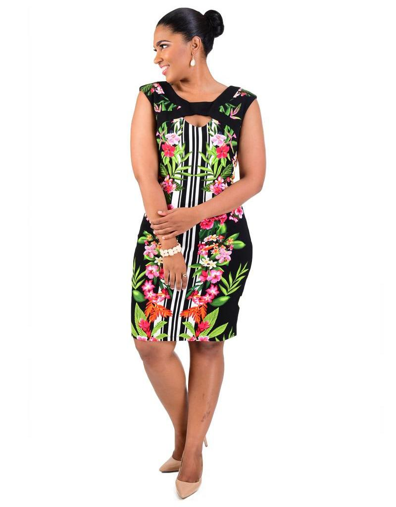 BAILEY-Tropical Floral Print Dress