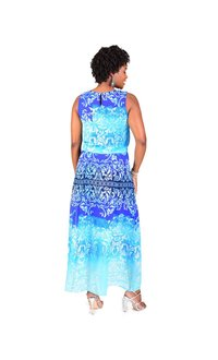 Rabbit Rabbit FLETA-Printed Popover Maxi Dress