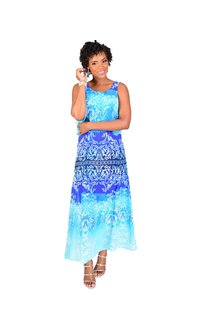 FLETA-Printed Popover Maxi Dress
