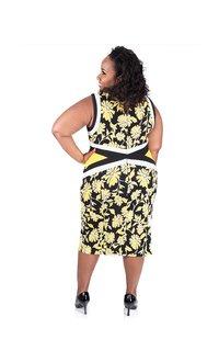 Shelby & Palmer Printed Emboss Sleeveless Sheath Dress