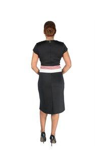 Shelby & Palmer Dress-sheath contrast capslv