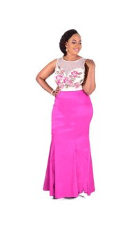 Plus Size Two Piece Mermaid Gown