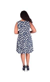 IRIS-Printed Dress with Three Quarter Sleeve Jacket