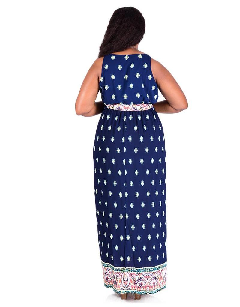 CLUB 408 Spaghetti  Strap Handkerchief Print Dress