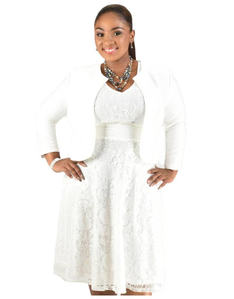 Lace Dress with Long Sleeve Jacket