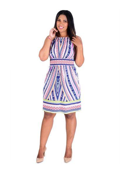 INEZ-Printed Halter Dress
