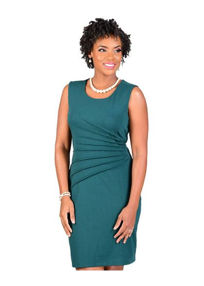 SG Apparel EMMY-Faux Wrap Dress