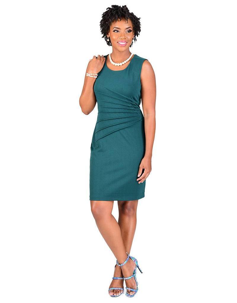 SG Apparel EMMY-Faux Wrap Dress