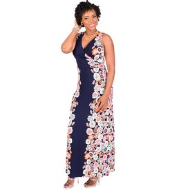 IDONIA-Printed Full Length Maxi Dress