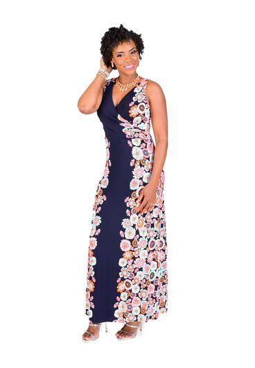 IDONIA-Printed Full Length Maxi Dress