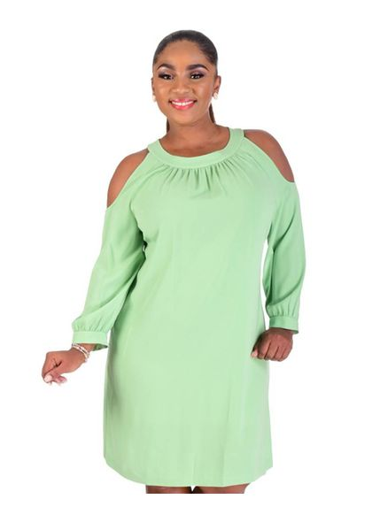 Nine West RHODA-Cold Shoulder 3/4 Sleeve Dress