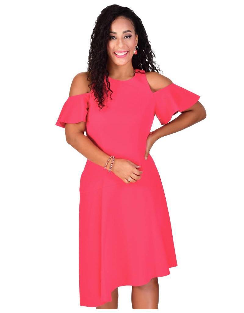 PASHA-Cold Shoulder Dress