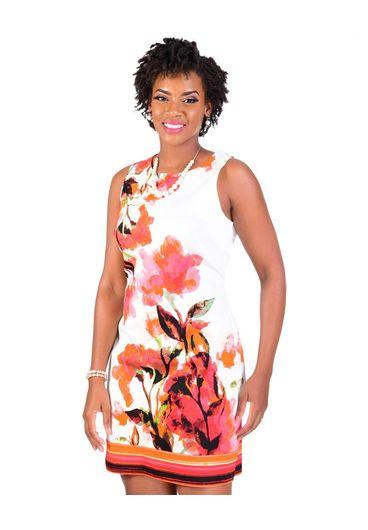 KIM-Floral Print Sleeveless Dress